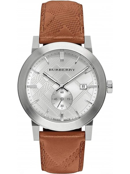 Burberry men's watch BU9904, real leather strap