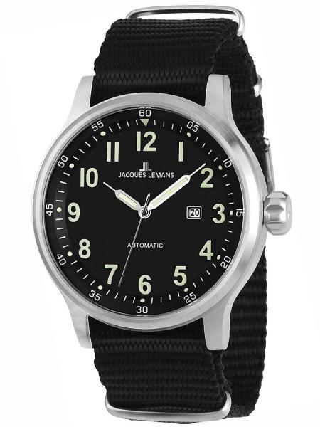 Jacques Lemans men's watch 1-1723C, textile strap