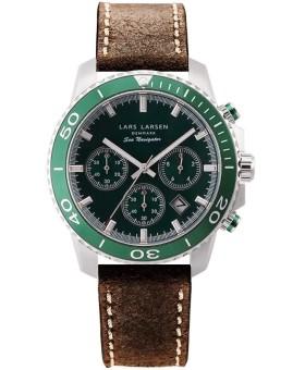 Lars Larsen 134-Green/Brown men's watch