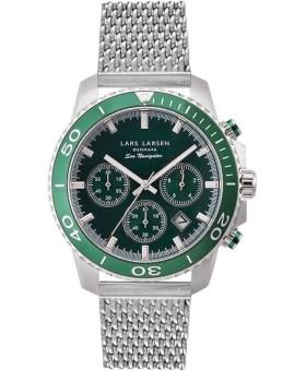 Lars Larsen 134-Green/Mesh men's watch