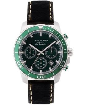 Lars Larsen 134-Green/Black herenhorloge