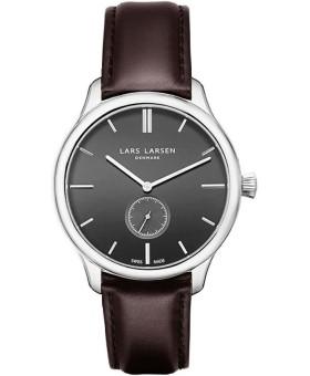 Lars Larsen 122-Grey/Dark Brown herenhorloge