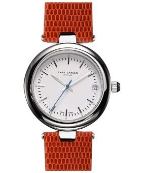 Lars Larsen 126-Pearl/Brown ladies' watch